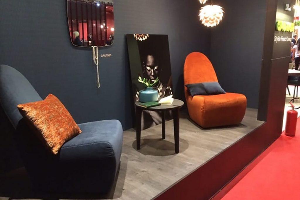 Auch weiche Bezugsstoffe und Samt waren auf der Mailänder Möbelmesse in diesem Jahr wieder zu bewundern.