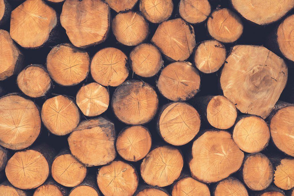 Norwegen, Baumstaemme, Holz, Design, Naturmaterial