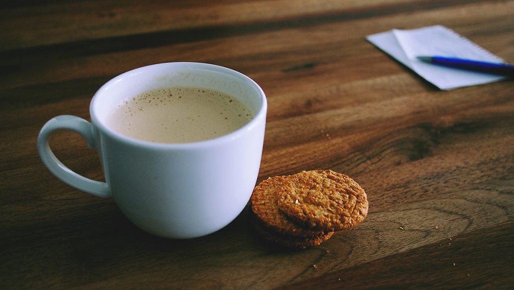Pause, Arbeitsplatz, Kaffeepause, Keks
