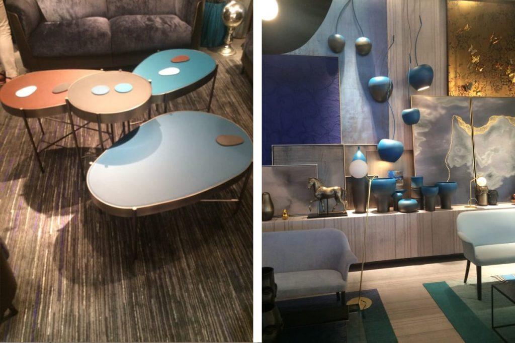 Auch neue Oberflächenmaterialien lassen sich auf der Mailänder Möbelmesse entdecken.