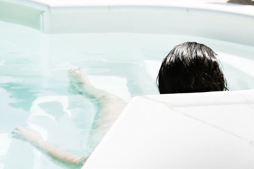 Auch in der Badewanne ist es im Winter entspannend und hyggelig.