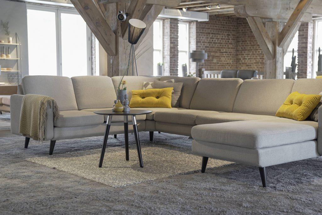 Das neue Stressless Eve Sofa mit seinen zahlreichen verschiedenen Modulen ist ebenfalls in dem neu gestalteten Ausstellungsraum zu sehen.