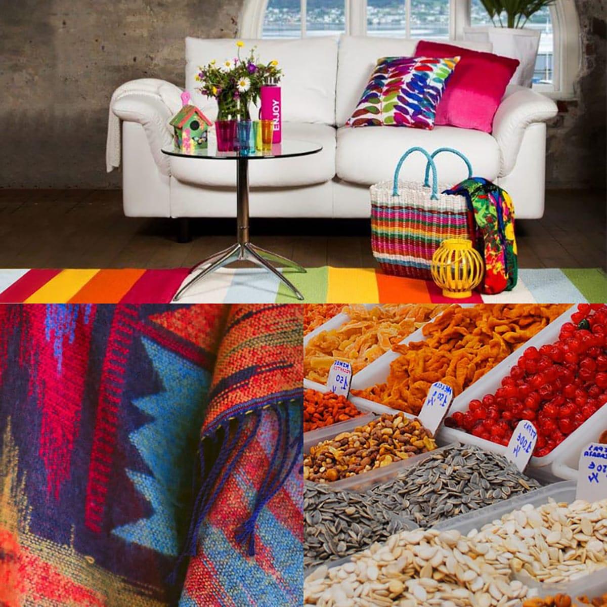 Mit kräftigen Farbkombinationen bringt ihr im Sommer Exotik und Energie in euer Zuhause.