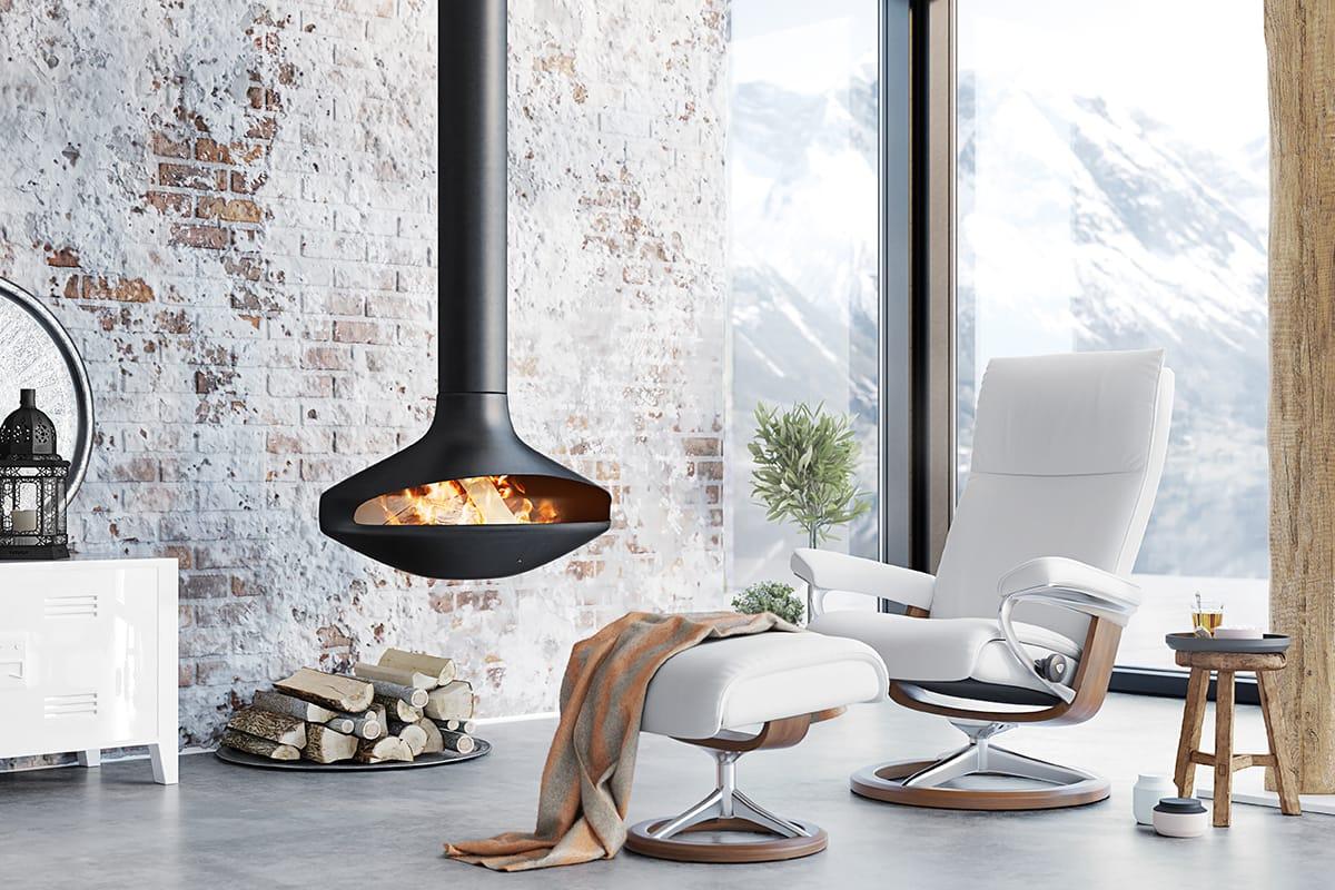 Mit dem Stressless Aura Sessel findet ihr den richtigen Sessel, wenn ihr skandinavisches Design mit höchstem Komfort sucht.