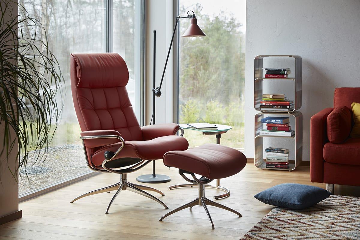 Der Stressless London ist der richtige Sessel, wenn ihr klares, skandinavisches Design liebt.