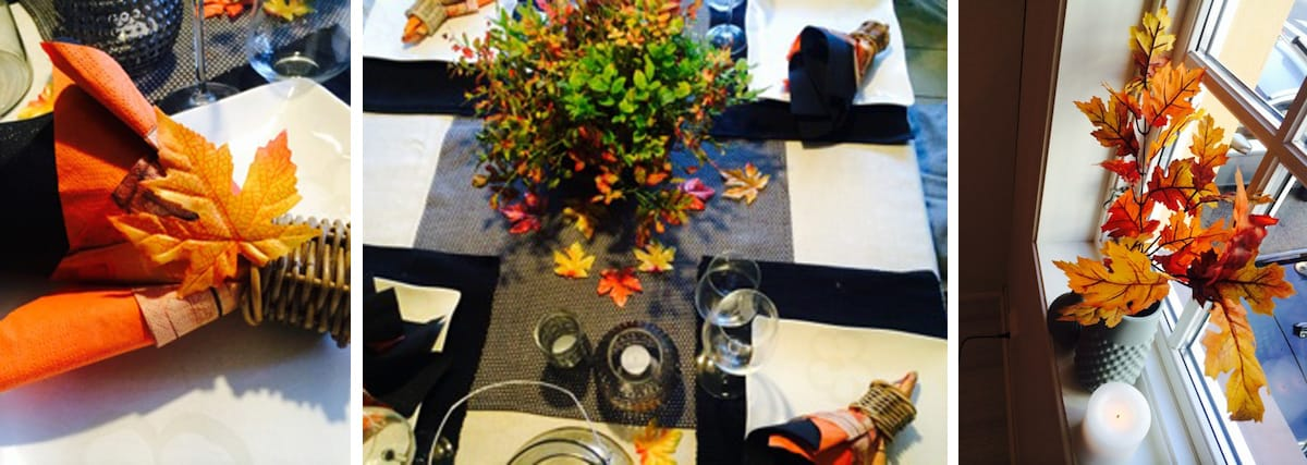 Wählt die Tischdekoration farblich passend zu den herbstlichen Wohnideen, mit denen ihr euer Zuhause schmückt.